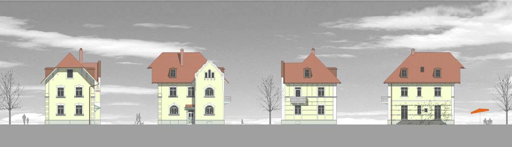 Villa-Zeichnung Ansicht