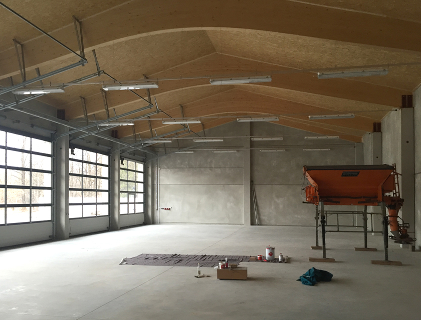 Bauhof Fahrzeughalle